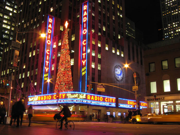 Radio City Music Hall for the holidays, on 11-22-10